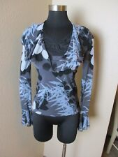 Vivienne Tam Blouse Floral Long Sleeve Lace Mesh Size 0 Small