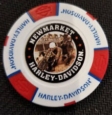 Harley Poker Chip~Golf Ball Marker (White/Red/Blue) NEWMARKET HD (ENGLAND)