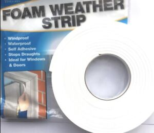 Draught Excluder Self-adhesive Tape Seal Window Door Foam Insulation Strip Cover