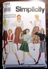 Simplicity sewing pattern no. 7389 ladies skirt size 8-12 CUT
