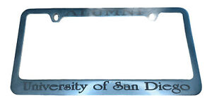 UNIVERSITY OF SAN DIEGO  (USD) - VINTAGE LICENSE PLATE FRAME -