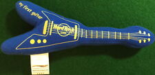 """Hard Rock Cafe 2007 """"MY FIRST GUITAR"""" 8"""" wide Blue Flying """"V"""" Bean Bag PLUSH"""
