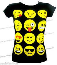 Magliette, maglie e camicie nere con girocollo per bambine dai 2 ai 16 anni