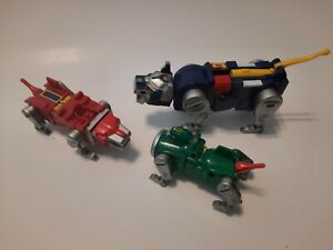 1998 Wep Vintage Voltron Parts Lot Red w/ Head Green no Head Blue not complete