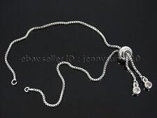 Zircon Rhinestone Adjustable 18K Chain Bracelet set For Connector Link Findings