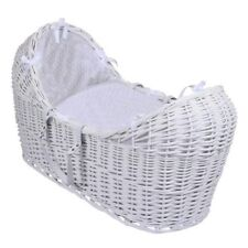 Replacement white pod wicker Moses basket snug bedding set