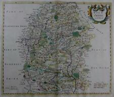 WILTSHIRE  BY ROBERT MORDEN  GENUINE ANTIQUE ENGRAVED MAP WITH HAND COLOUR c1695