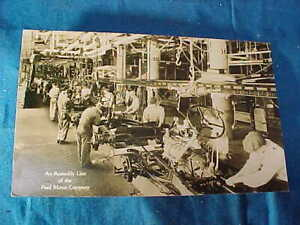 1920s FORD AUTOMOBILE Factory ASSEMBLY LINE Real Photo POSTCARD
