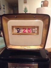 1961 Vintage PENNWOOD NUMECHRON Flip Clock & TV Tele-vision Light - Works