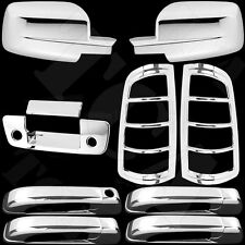 For Dodge Ram 1500 09-15 Chrome Cover Mirror 4 Door Handles Tailgate Taillights