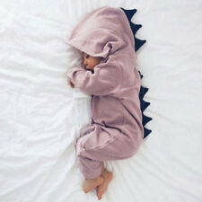 Recién Nacido Bebé Niño Niña Dinosaurio con capucha Traje una pieza BODY ROPA