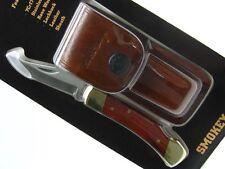 SCHRADE UNCLE HENRY Rosewood SMOKEY Straight LOCKBACK Folder Knife + Sheath! LB5