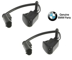 For BMW E36 3 Series Pair Set of 2 Windshield Washer Nozzles Genuine 61668376011
