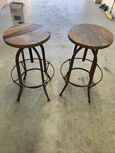 industrial metal bar chairs