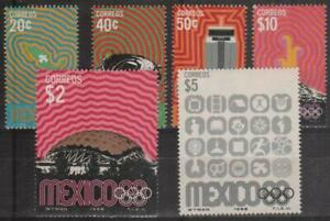 (11) MEXICO - 1968 Olympic Games. Scott 996-1000. MNH