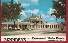 1962 Souvenir Postcard ZEHNDER'S Chicken Dinners Frankenmuth MI  Michigan