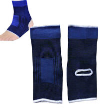2x Elastic Ankle Foot Brace Sock Support Band Sports Gym Protector Shin Anklet