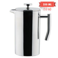 MIRA Double Walled Stainless Steel Tea & Coffee French Press 12 Oz (350 ml)
