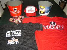 MEGA PAQUETE BEER TECATE CORONA EXTRA 8 items Metal Bucket+t-shirt+serving MEXIC