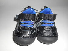 Healthtex Infant Toddler Boys Classic Athletic Shoe Leather Black  Size 2 NWT