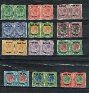 SOUTH WEST AFRICA - KGV 1923/26 SG 16/27 FINE MINT SET