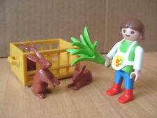 Playmobil 100% Complete Special 4529 Girl Feeding Rabbits
