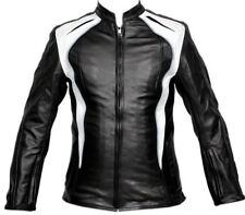 Women Motorcycle Jacket Leather CE Protection Biker Motorbike Leather Jacket