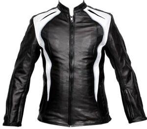 Ladies Motorcycle Jacket Leather Protection Biker Women Motorbike Leather Jacket