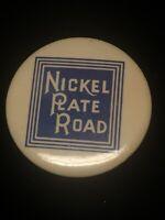NICKEL PLATE ROAD Railroad Train Novicraft Co. Cleveland OH Pin Pinback Button