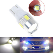 T10 168 194 W5W 6LED 5630SMD Pure White Car Side Wedge Light Bulb Lamp 12V