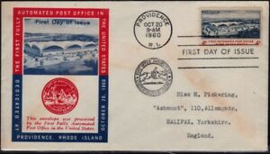 USA 1960 Automated Post Office FDC unaddressed @D4474
