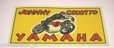 ADESIVO MOTO anni '70 / Old Sticker / JOHNNY CECOTTO - YAMAHA (cm 20 x 10)