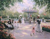 A Parisian Carousel by Christa Kieffer Paris Street Scene Fine Art Print 22x28
