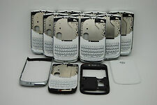 LOT of 10 OEM Blackberry torch 9800 white 4pc back housing USED USA seller
