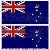 VICTORIA State Flag Australia AU-VIC Australian Vinyl Stickers, Decals 110mm x2