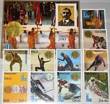 PARAGUAY 1980 3347-56 Block 360 1985-88A Winter Olympics Lake Placid Coubertin**