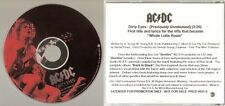 "AC/DC ""Dirty Eyes"" Rare US Promo CD"
