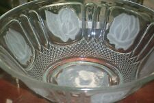 "Indonesia Frosted ""Rose Pattern"" Bowl"
