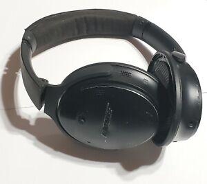Black Bose QuietComfort 35 QC35 Series II Wireless Headphones wth WEAR & NO PADS