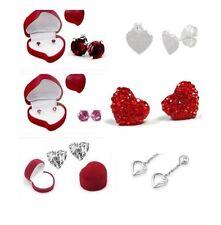 Valentine Sweetheart Earrings in Heart-Shaped Box, New !