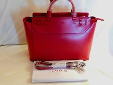 41256b137b Lodis Audrey Quince Convertible Backpack Red Leather + Black Trim NWT MSRP   292