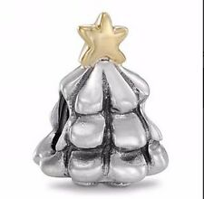 AUTHENTIC PANDORA CHRISTMAS TREE Sterling Silver w 14K GOLD STAR #790365