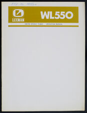 Luxman wl550 ORIGINAL AM/FM Stereo Tuner service-manual/Diagram/schéma de branchement