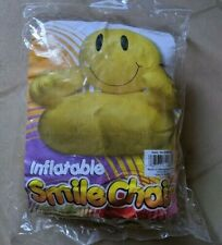 """Inflatable Smile Happy Face Chair 36"""" Ages 5 & up New in Package"""