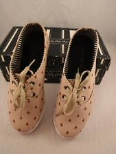 Loly in the Sky Critter Fix Sneakers Tennis Shoes Sz US 7 Fox Head Print Tan