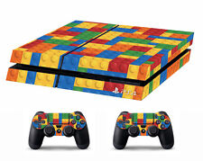 PS4 vinyl Skin Stickers lego bricks for Console & 2 controllers