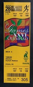 1996 Atlanta Summer Olympics Ticket Stub 7/28/96 Athletics Track & Field
