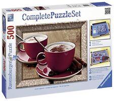 Ravensburger 14892. Ensemble Complet puzzle avec cadre de 500 PC. Hora café