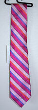 Michelsons of London Men's Floral Stripe Neck Tie MILNF14S03 Pink 100% Silk