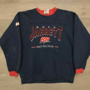 Dale Jarrett #88 Robert Yates Racing Mens Blue Pullover Sweater Chase Size Large